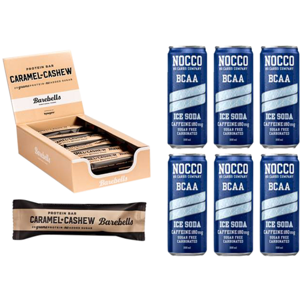 Nocco Ice Soda & Barebells Caramel Cashew Bar Bundle