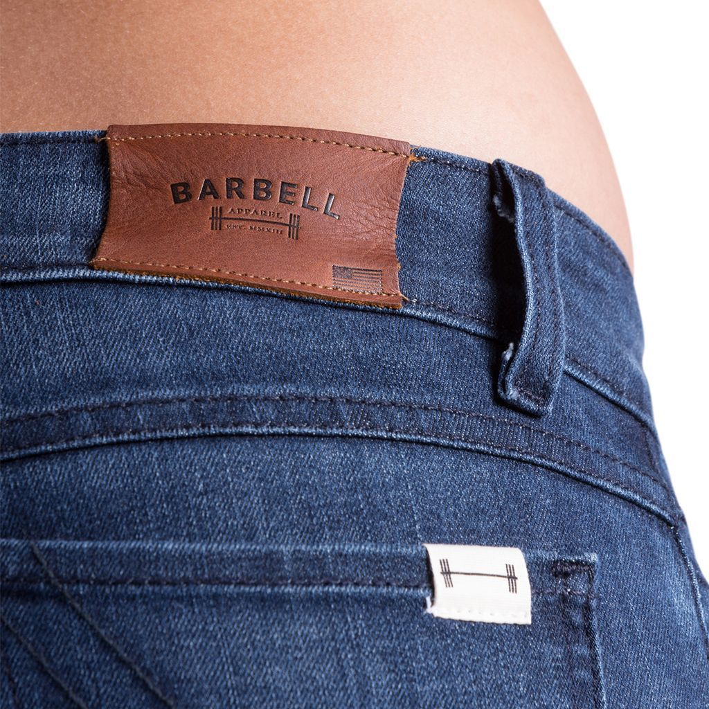 Jeans - Barbell Apparell Slim Athletic Fit In Blue Fade