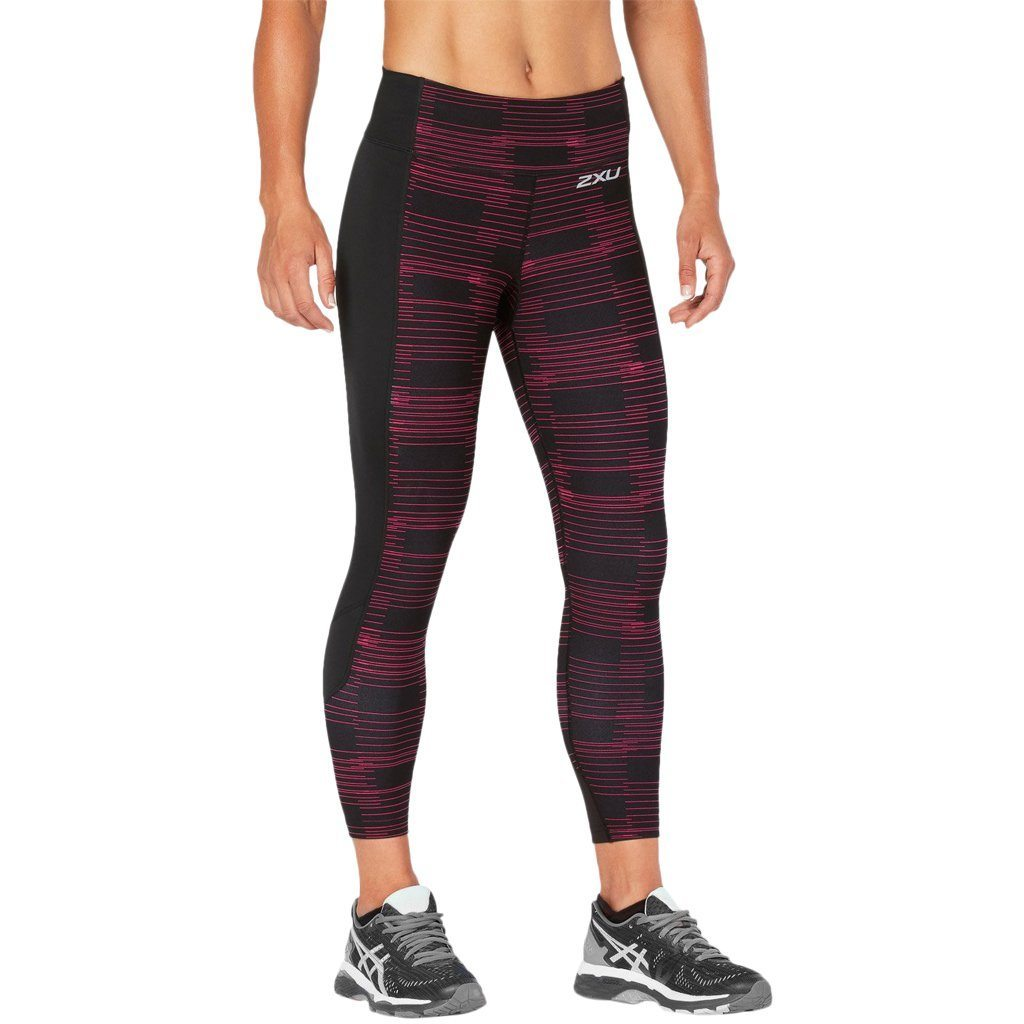 Leggings - 2XU Fitness Compression Tights Black / Peacock Pink