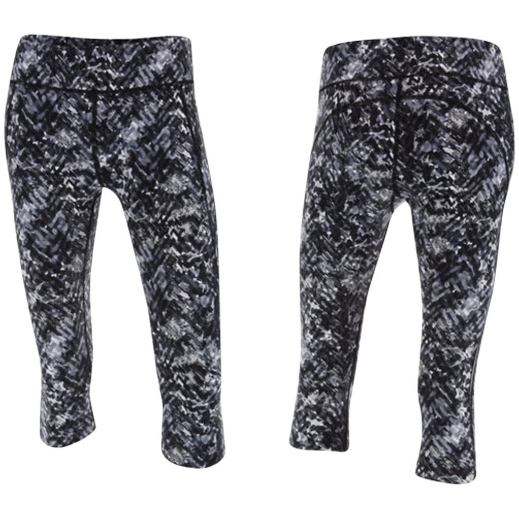 Leggings - 2XU Kinetic Pro 3/4 Tight  Black Alpine Print