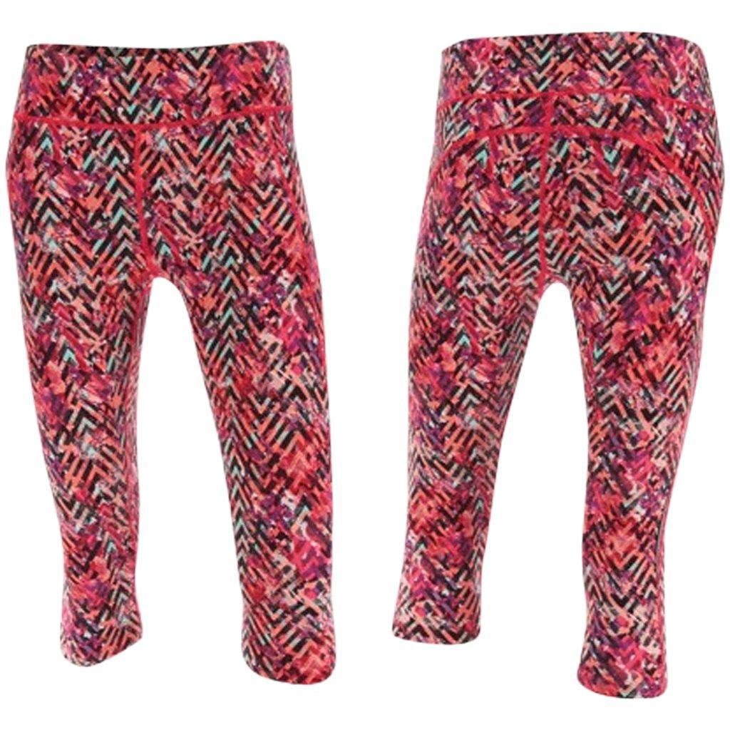 Leggings - 2XU Kinetic Pro 3/4 Tight  Pink Alpine Print