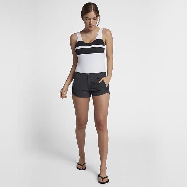 Hurley Quick Dry Block Party Bodysuit White