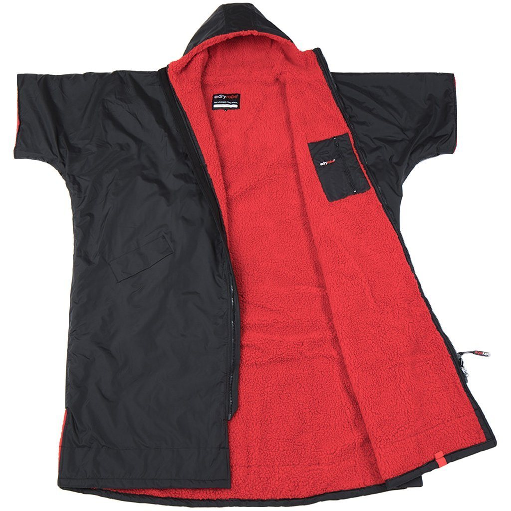 Outerwear - Dryrobe Deep Hood Black And Red