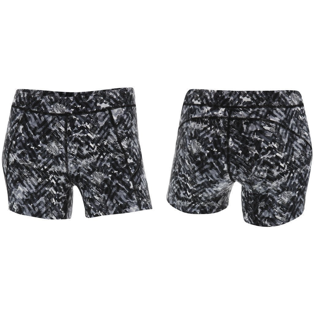 Shorts - 2XU Printed Kinetic Short Black Alpine Print