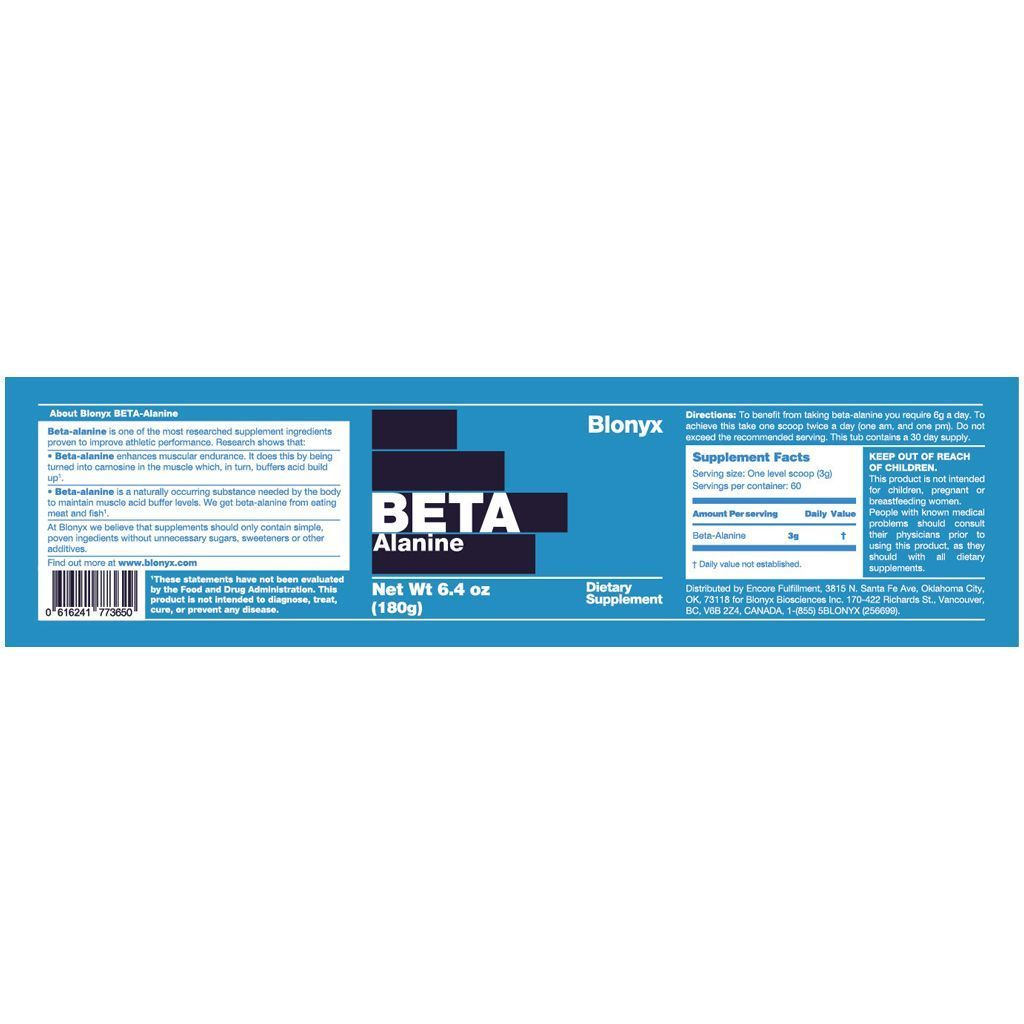 Supplements - Blonyx Beta Alanine