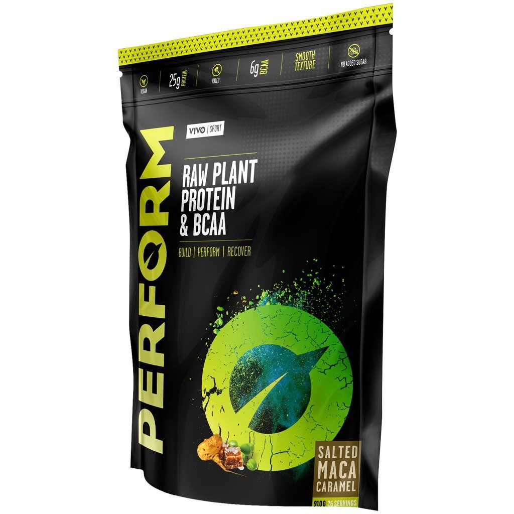 Supplements - Vivo Life Perform Raw Plant Protein & BCAA Salted Maca Caramel