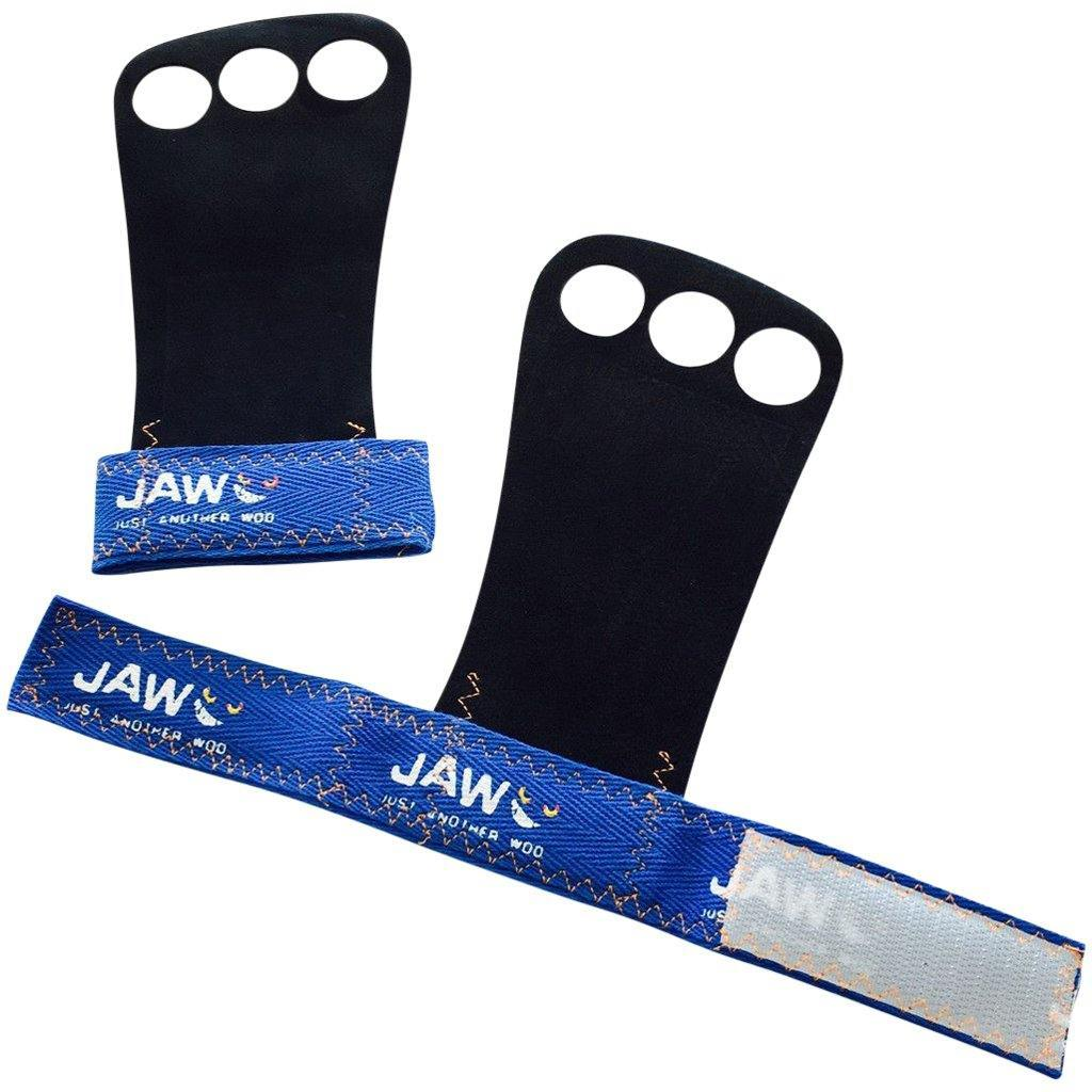 Tape, Wraps & Support - JAW Leather Pullup Grips Blue
