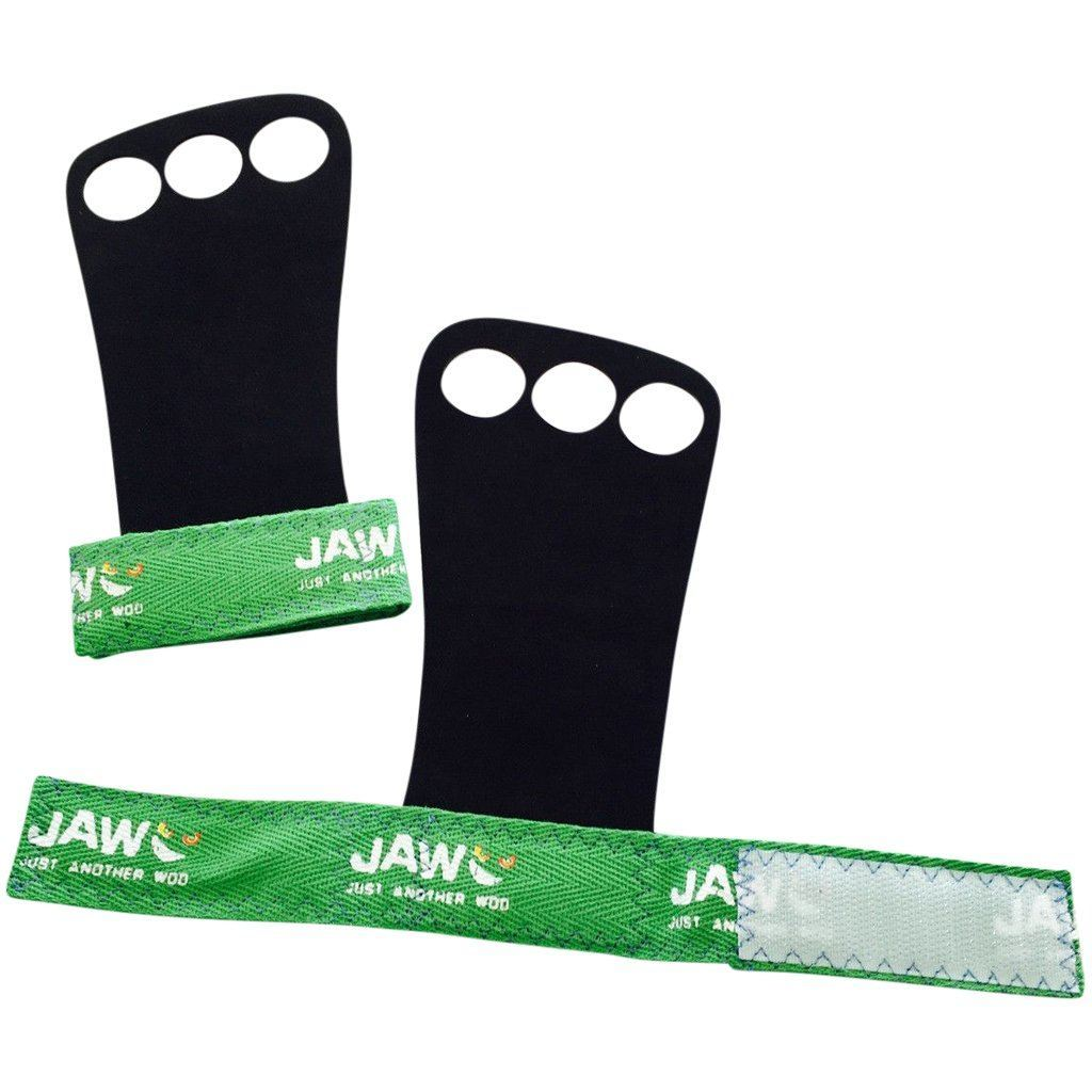Tape, Wraps & Support - JAW Leather Pullup Grips Green