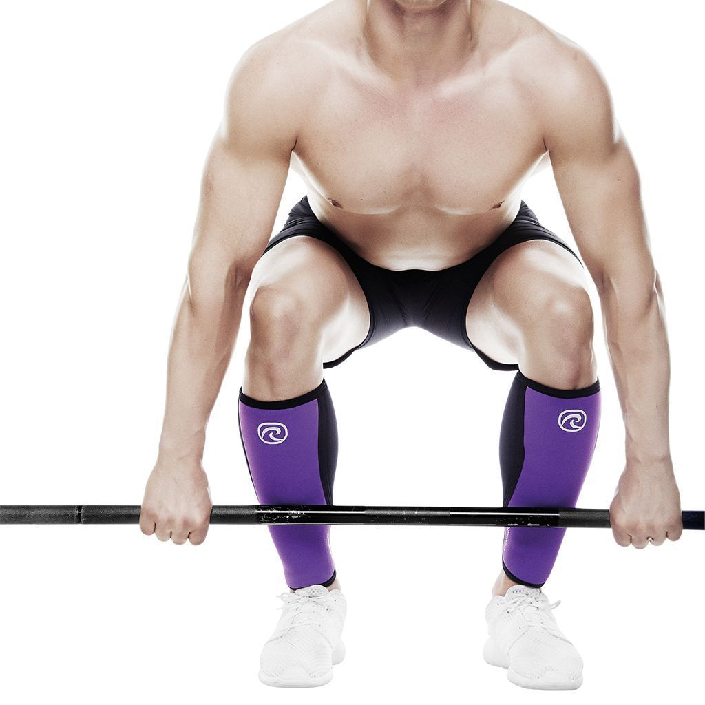 Tape, Wraps & Support - Rehband RX Shin / Calf Support Purple