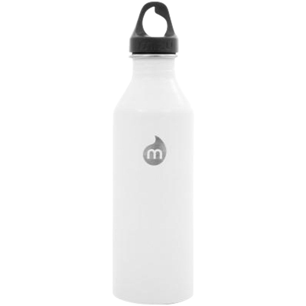 Water Bottle - MIZU M8 - Enduro White LE W Black Loop Cap