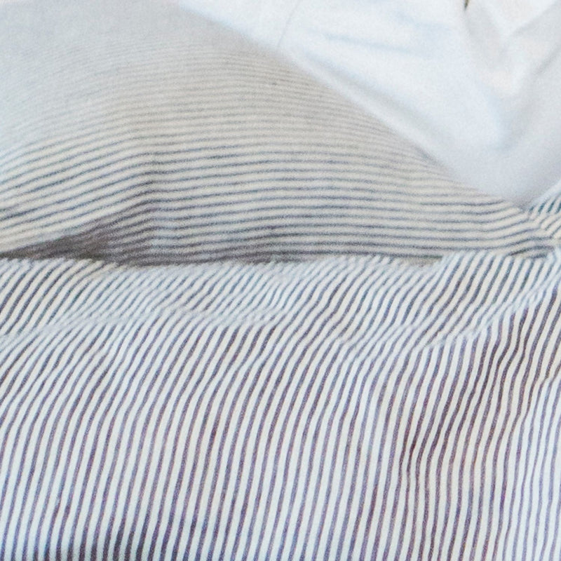 Limited Edition Linen Duvet Cover Set - Pacific Stripe