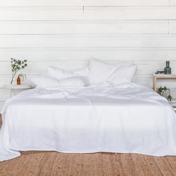 Linen Sheet Set - Polar White