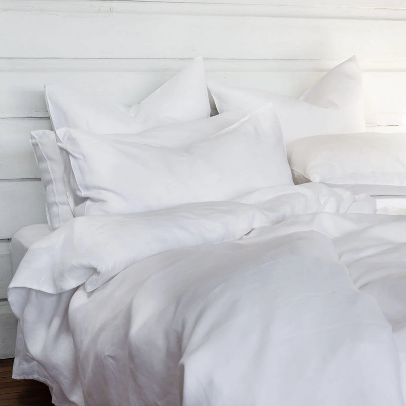 Pure Linen bed European Pillowcases White