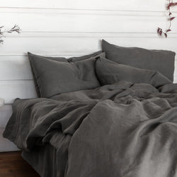 Linen Duvet Set - Storm Grey