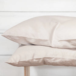 Linen Pillowcase Set - Ash Grey