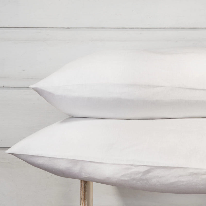 Linen Pillowcase Set - Polar White