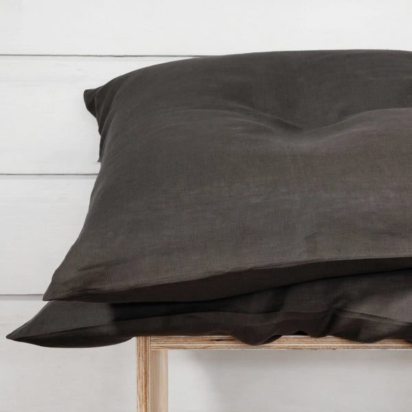 Linen Pillowcase Set - Storm Grey