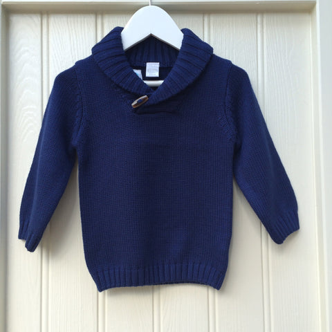 Navy Toggle Jumper
