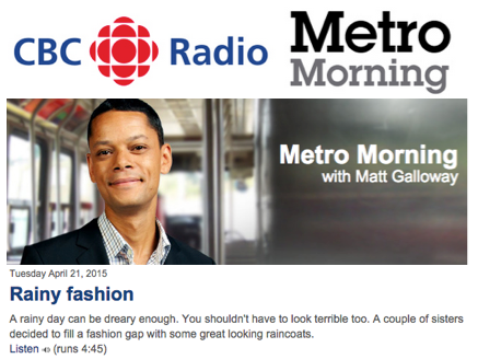CBC - Metro Morning - April 2015