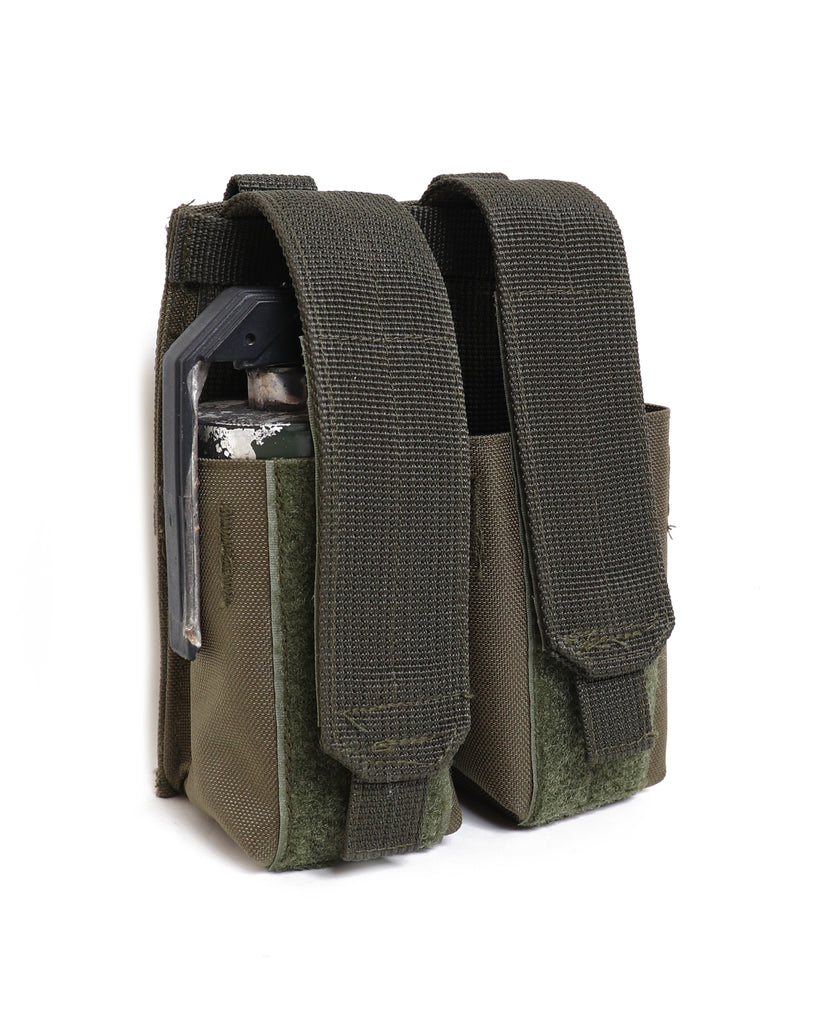 W915 Double Smoke Grenade/ Magazine MOLLE Pouch - Olive Green - Arktis