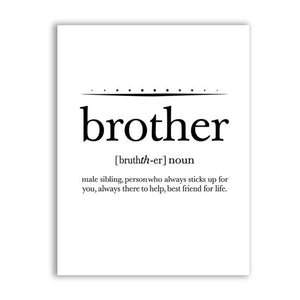 Big Brother Quote Print Boy\'s Room Wall Art