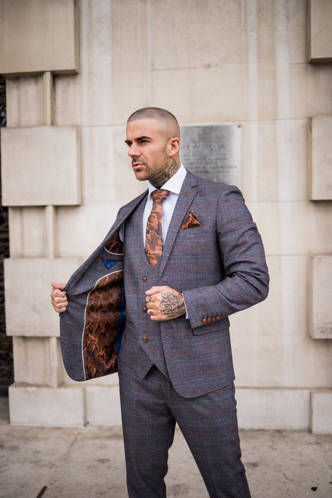 Marc Darcy Jenson - Grey Checked Blazer