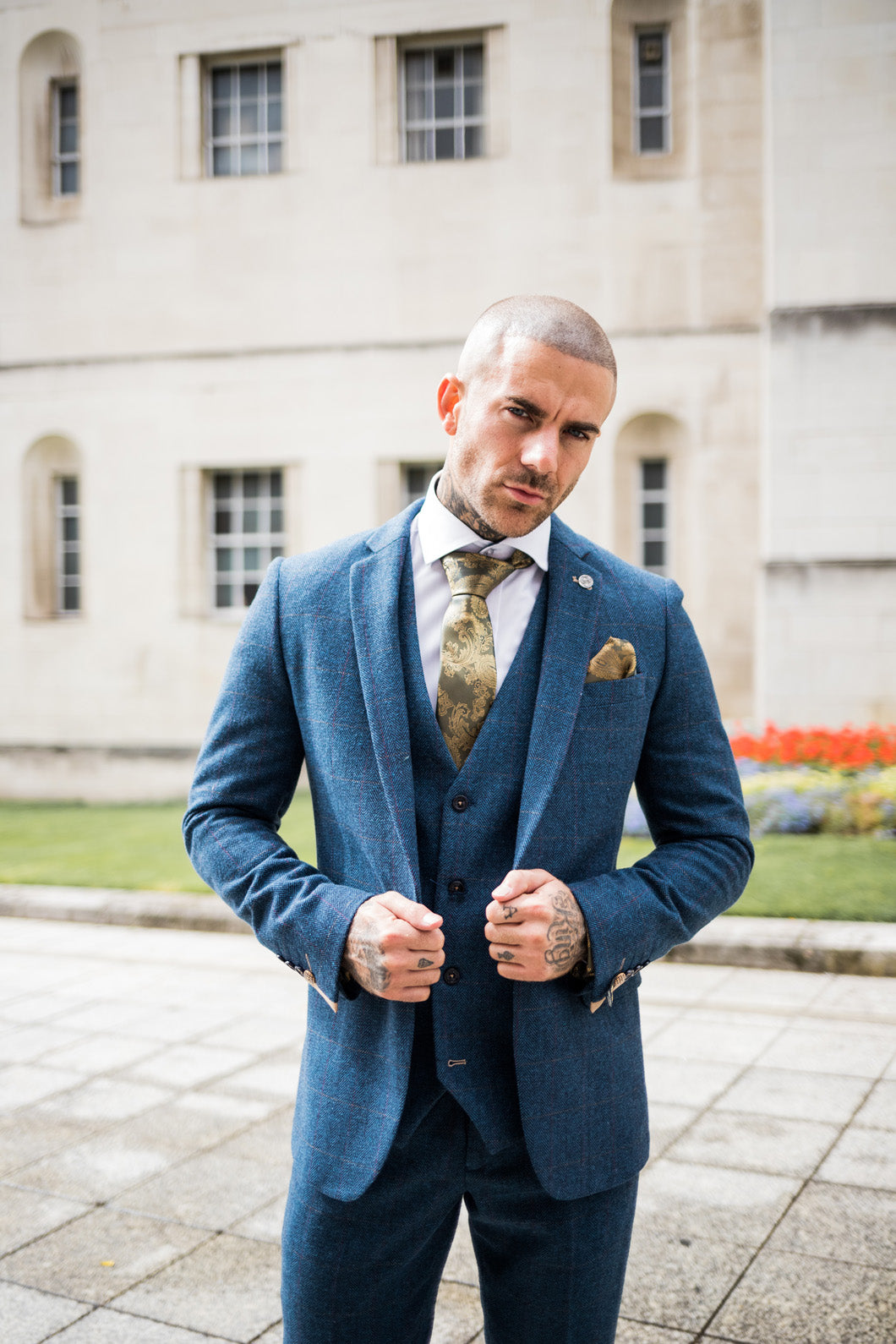 Marc Darcy Dion - Blue Checked Tweed Vintage Blazer