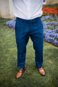 Marc Darcy Jerry - Blue Check Trouser