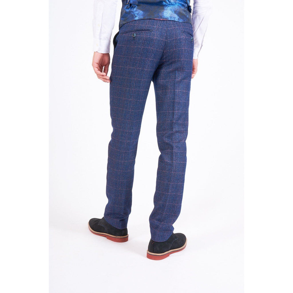 Marc Darcy Harry - Indigo Checked Tweed Trouser