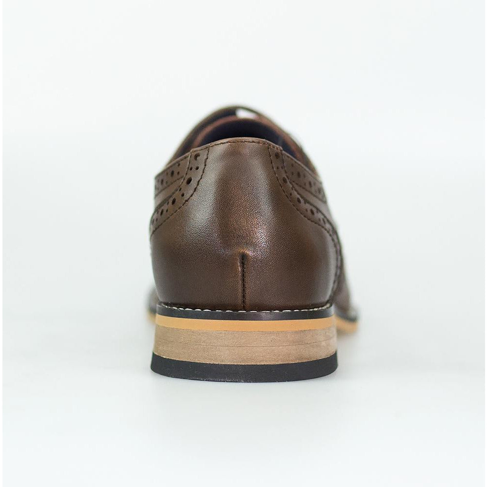 Cavani Horatio - Brown Brogue Leather Shoes