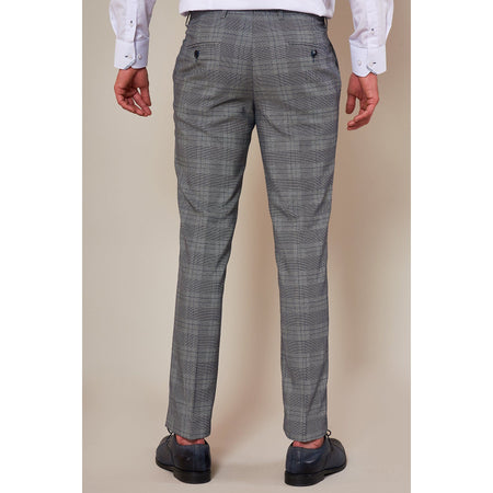 Marc Darcy Jerry - Grey Check Trouser