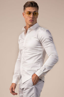 Lockstock Landing Long Sleeve Shirt White
