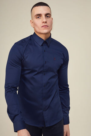 Lockstock Lock Shirt Long Sleeve Navy