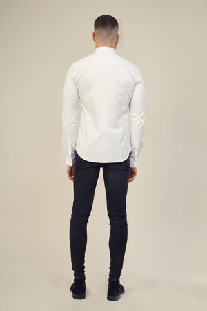 Lockstock Lock Shirt Long Sleeve White