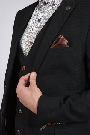 Marc Darcy Max - Black Blazer With Contrast Buttons