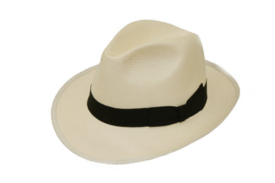 Denton Mayfair Panama Hat With Black Band