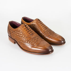 Cavani Orion - Tan Signature Leather Shoes