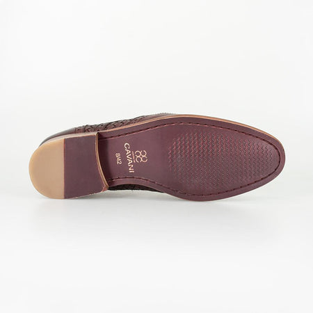Cavani Orion - Wine Signature Leather Shoes
