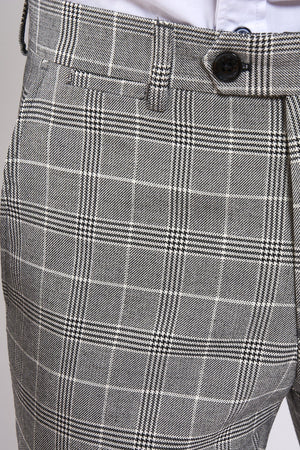 Marc darcy Ross - Grey Checked Trouser