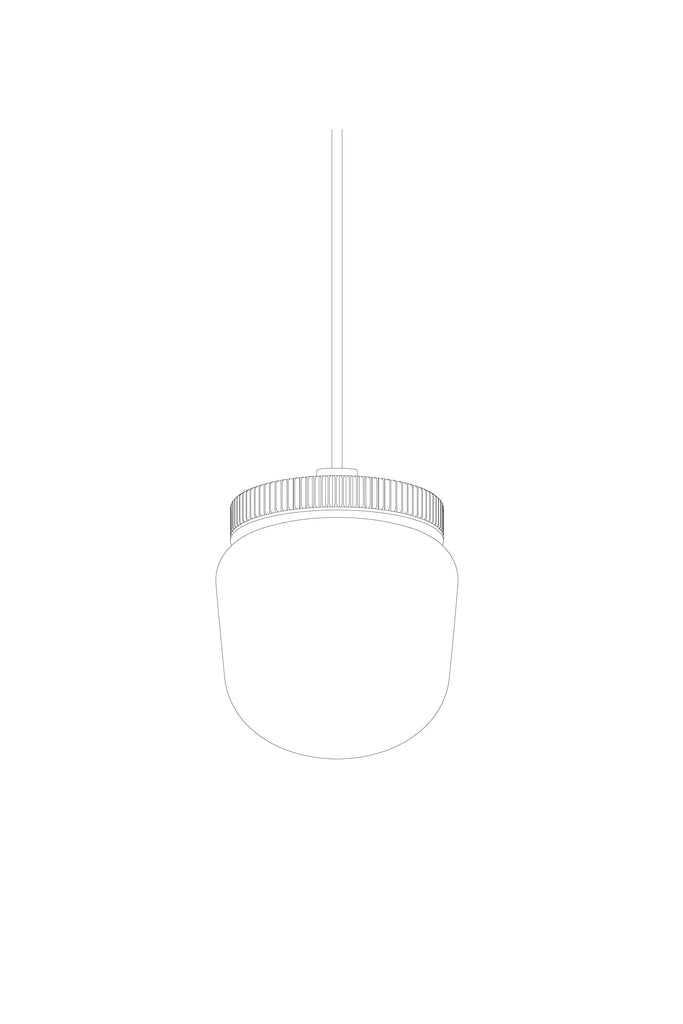 Hoist Pendant Bare Large - Blue