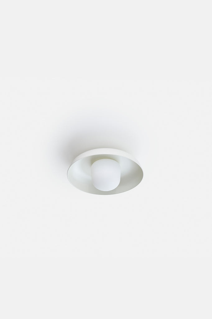 Hoist Flush Mount Medium - Cream White (Ready to Ship)