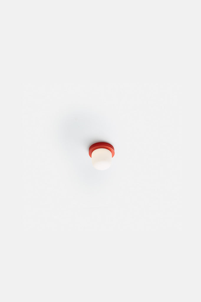 Hoist Flush Mount Bare Small - Vermilion Red