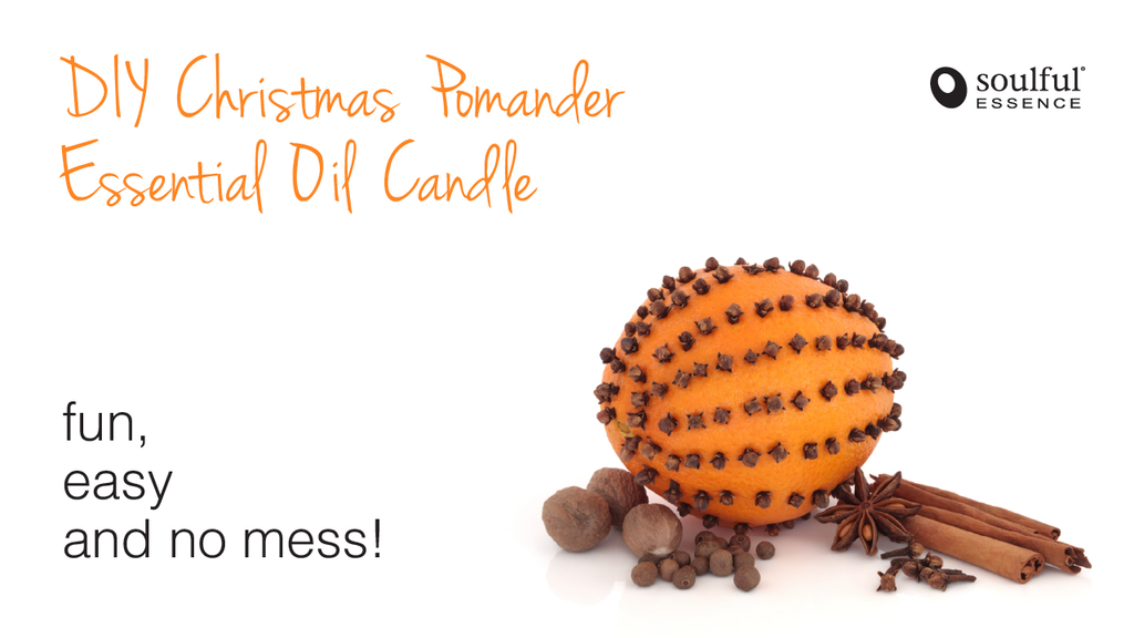 DIY Christmas Pomander Essential Oil Candle