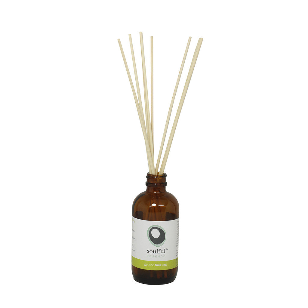 Get the Funk Out  |  Lemongrass + Eucalyptus Aromatherapy Reed Diffuser