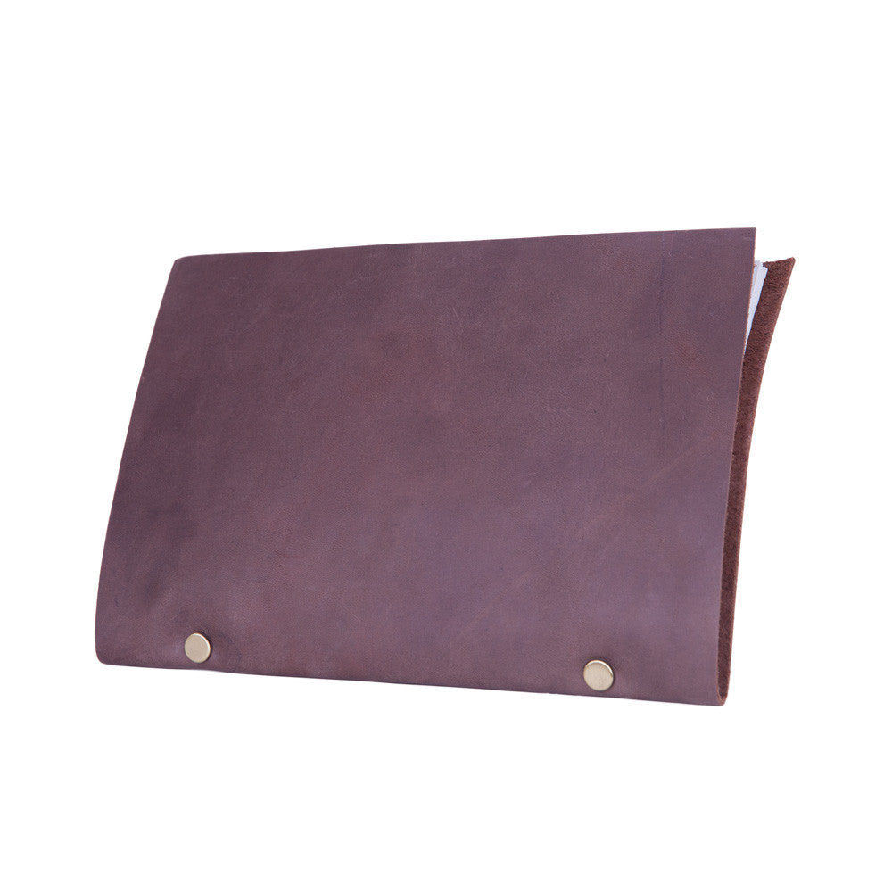 Staple Notepad - Dark Brown