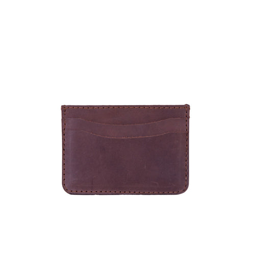 Staple Card Holder - Dark Brown