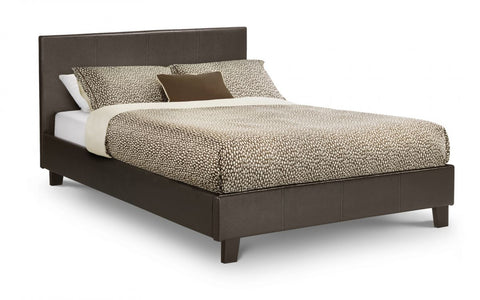 Picture of Cosmo Bed = Luxurious Brown Faux Leather