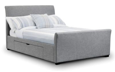 Picture of Capri Fabric Bed with 2 Drawers - Grey