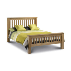 Amsterdam - High Foot End Double Bed - Oak