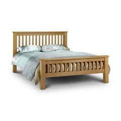 Amsterdam - High Foot End King Size Bed - Oak